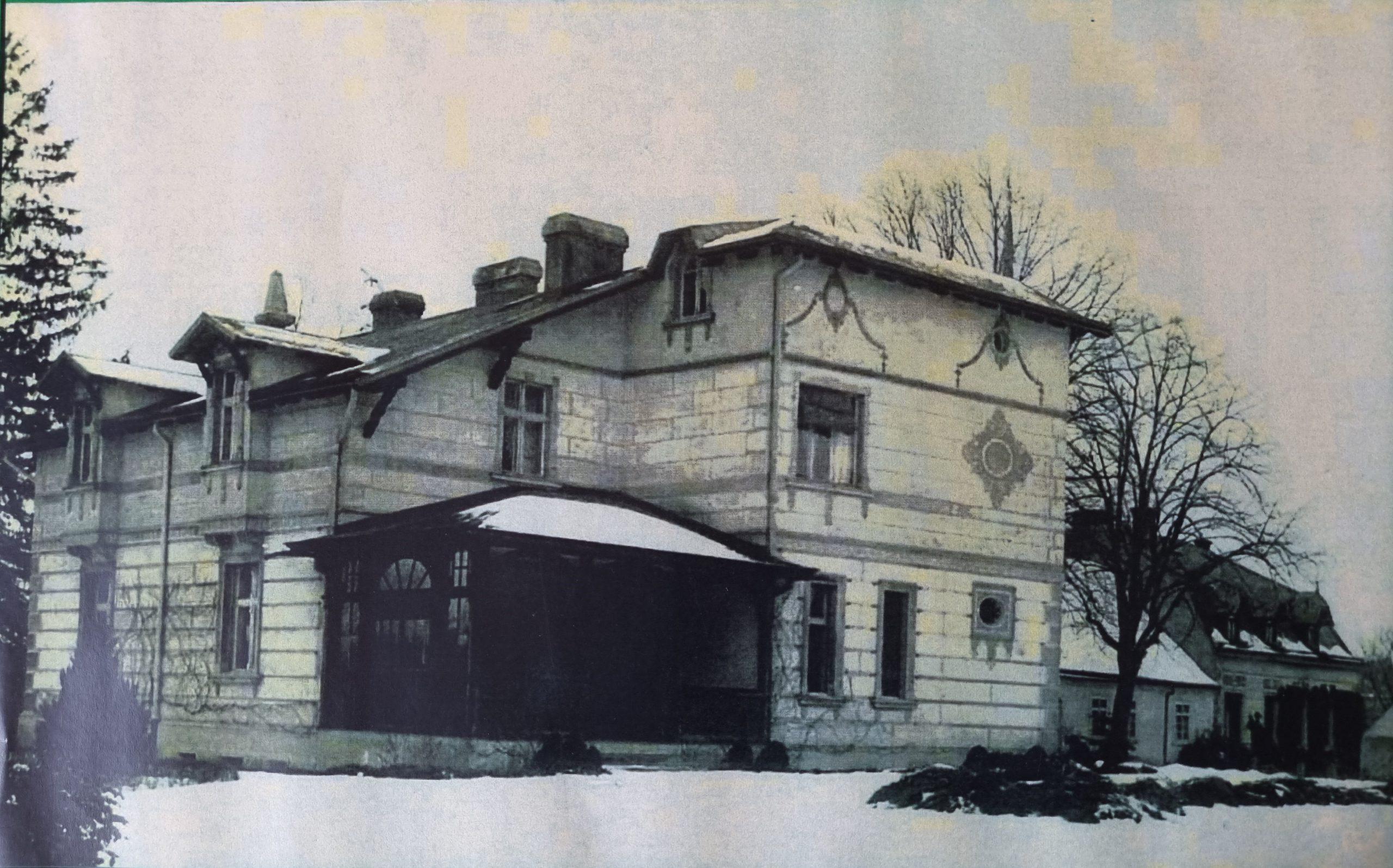 dw. w mn, willa i lew skrzydło ok. 1890 r